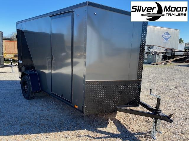 2021 Pace American 6x12 Silver/Charcoal Blackout Enclosed Cargo Trailer