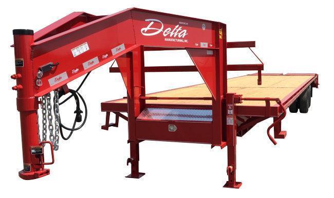 2021 Delta Manufacturing 210GN 20+5 Flatbed Trailer