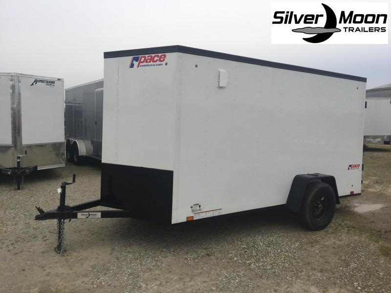 2021 Pace American 6x12 White/Blackout Enclosed Cargo Trailer