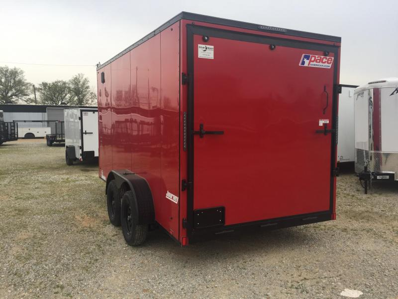 2021 Pace American 7x14 Red/Blackout Cargo Trailer