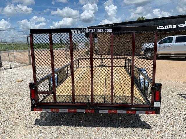 "New 2020 Delta Manufacturing 135U 76""x12' Gray ATV Trailer"