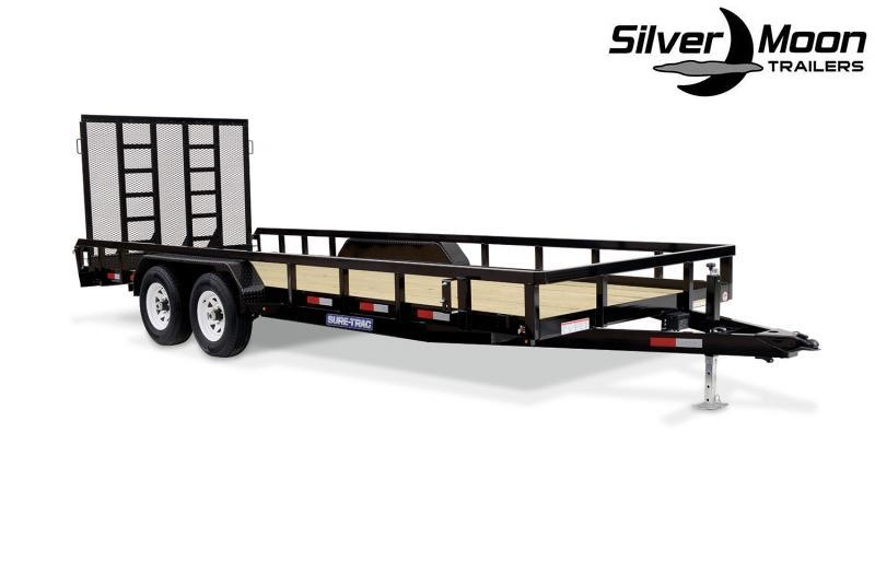 2021 Sure-Trac 7 X 20 TA 10K Tube Top Utility Utility Trailer