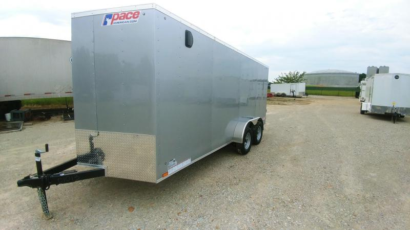 2020 Pace American 7x16 V-Nosed Enclosed Cargo Trailer For Sale