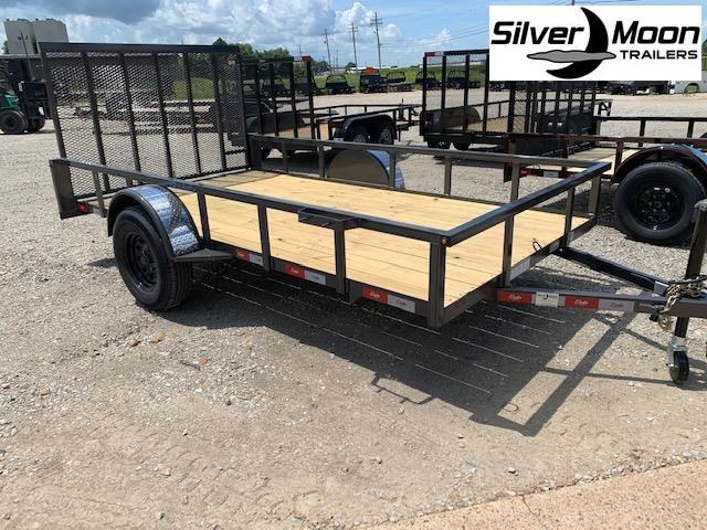 "New 2020 Delta Manufacturing 135U 76""x12' Black ATV Trailer"