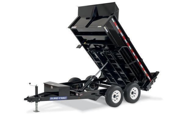 "2021 Sure-Trac 72"" x 12' 10K SD Low Profile Dump Trailer"