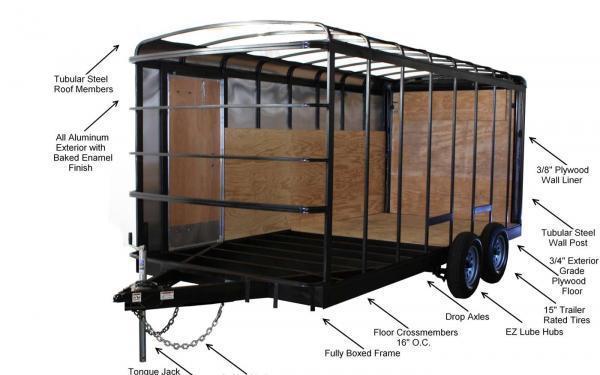 2021 Homesteader Challenger 6 x 10 SA Enclosed Cargo Trailer