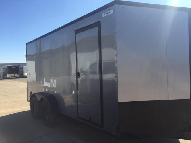 2022 Pace American 7x14 Silver/Blackout Cargo Trailer