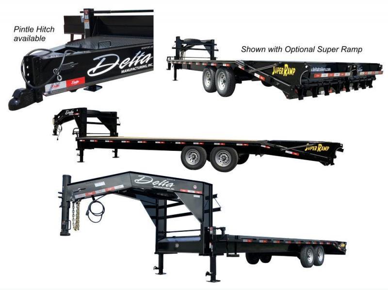 2021 Delta Manufacturing 27GN 20+5 GN Flatbed Trailer