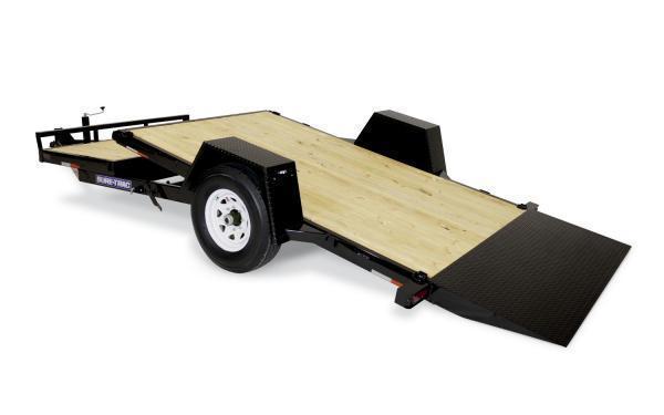 2022 Sure-Trac 12' + 4 7K Single Axle Tilt Bed Equipment Trailer