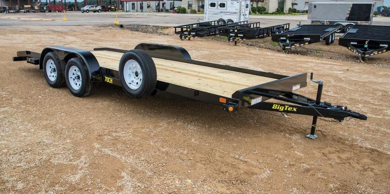 "2021 Big Tex Trailers 70CH 83"" x 18 Car Hauler"