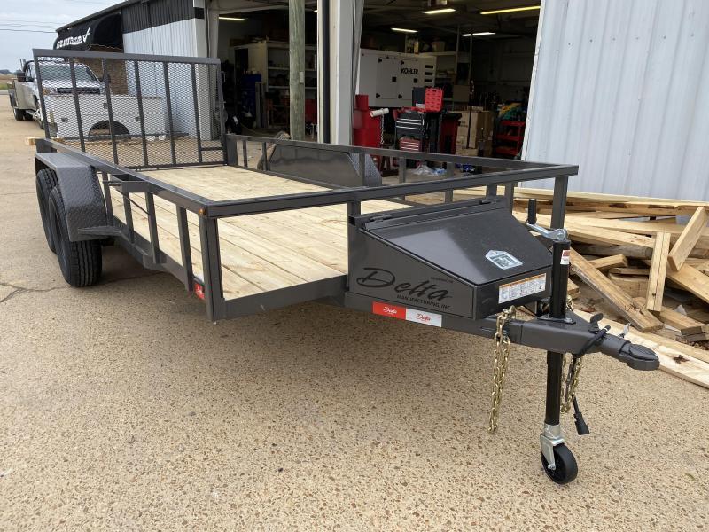 "2021 Delta Manufacturing 235U-16 82""x16' Utility Trailer"