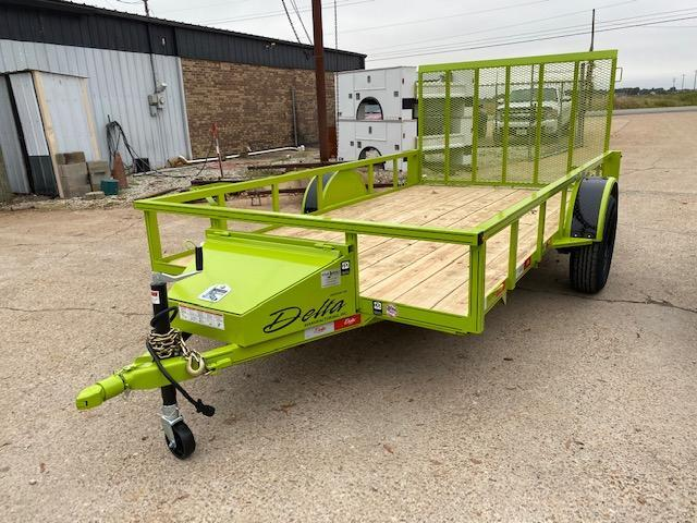 "New 2021 Delta Manufacturing 135U 76""x12' Green ATV Trailer"