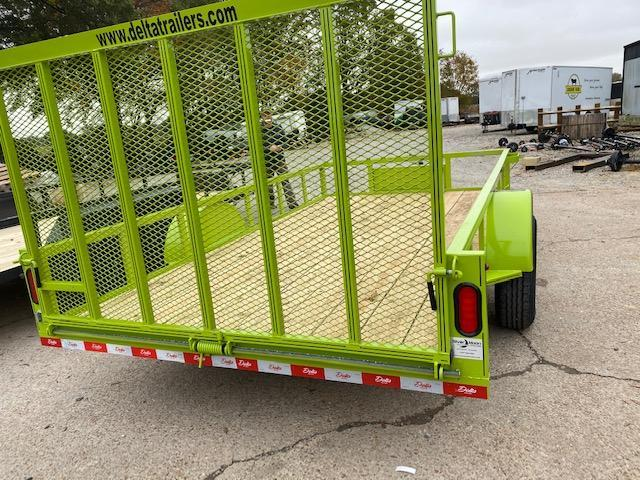 "New 2021 Delta Manufacturing 135U 76""x12' Green ATV Trailer"