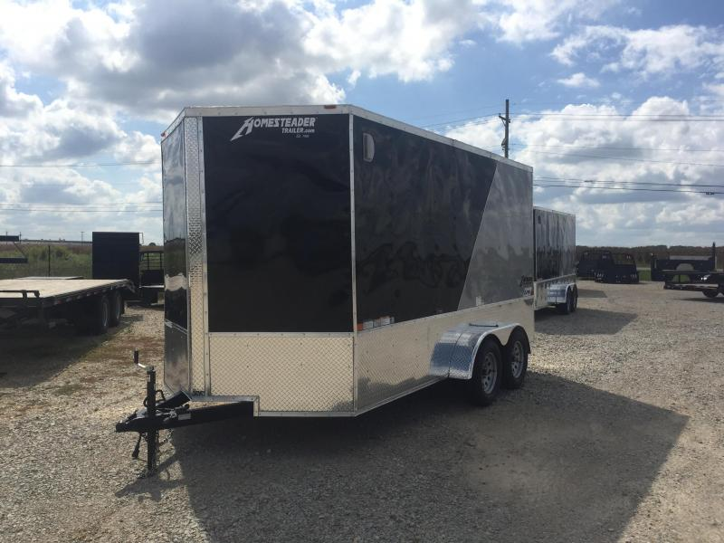 2021 Homesteader 7x14 OHV Tandem Axle Cargo Trailer
