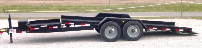 "2021 Liberty LT16KA - 16K Angle Tilt 79"" Wide Split Deck Equipment Trailer"