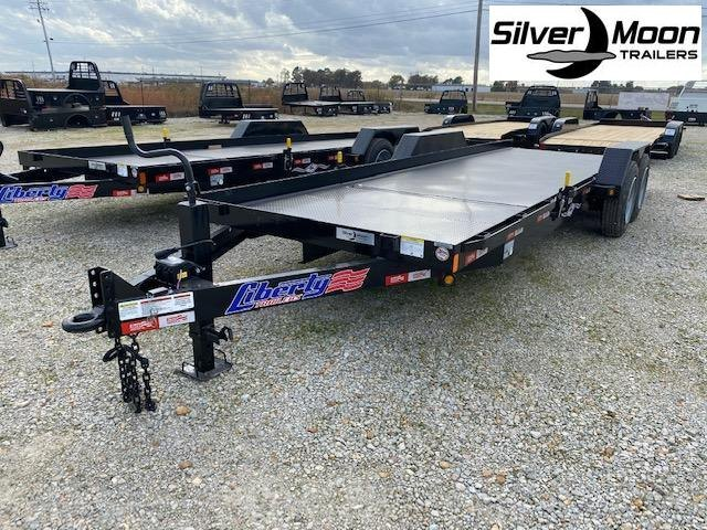 "2021 Liberty LT16KA - 16K Angle Tilt 79"" Wide Split Deck Equipment Trailer"