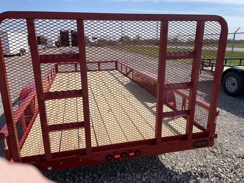 7x16 Tandem Axle Utility w/ Rear Gate