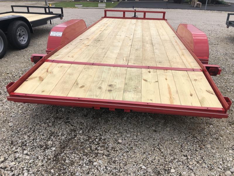 16' Wood Floor Car Trailers w/ ramps - 7000 GVW - BRAKE
