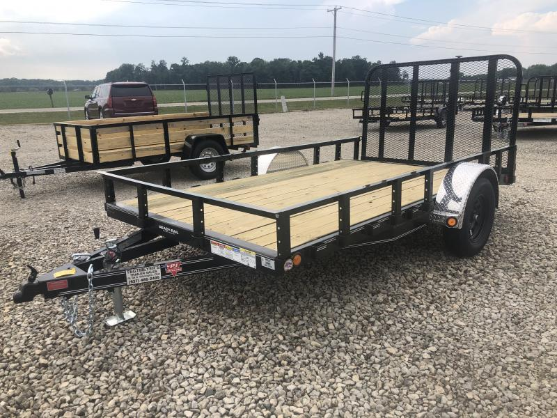 PJ Trailers 6x12 Utility Trailers w/ Dove & Fold up Gate