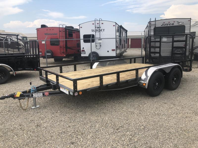 PJ Trailers 7' x 16' Utility Trailer w/ HD Gate - Dove