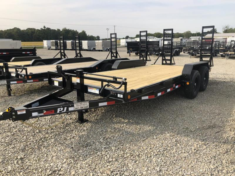 PJ Trailers 18' Equipment Trailer w/ Stand up Ramps