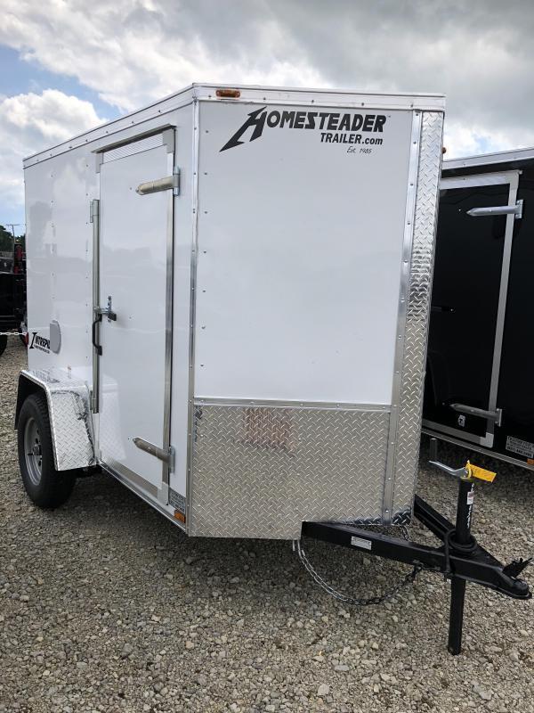 Homesteader 5x8 SA Enclosed Trailer w ramp door
