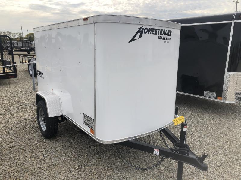 Homesteader 4x8 Single Axle Enclosed w/ Single Rear Door