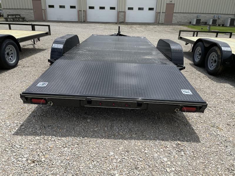 18' Steel Floor Car Trailers w/ Ramps