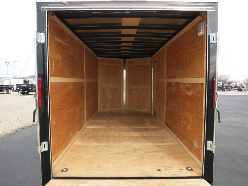 Homesteader Trailers 7x16 Enclosed Trailer w/ Ramp Door - Side Wall Vents - D Rings - Side Door