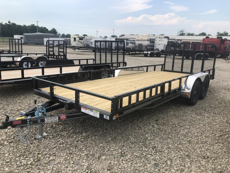 PJ Trailers 7' x 20' Utility Trailer w/ Gate -Side Ramps