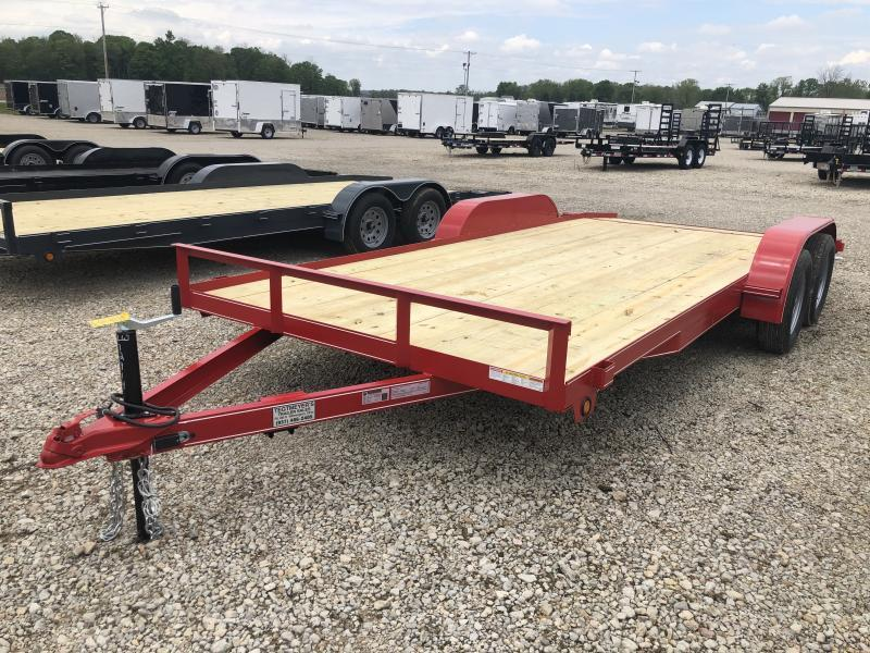 Lone Wolf Trailers 18' Wood Floor Car Trailers w/ ramps - 7000 GVW - BRAKE