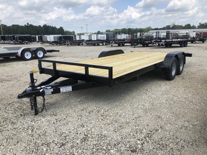 18' Wood Floor Car Trailers w/ Ramps