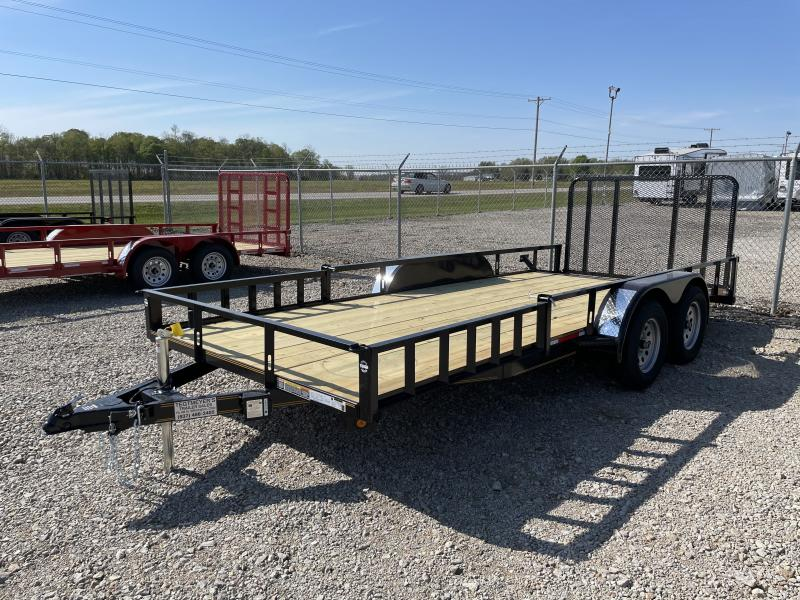 7x18 Tandem Axle Utility w/ Rear Gate