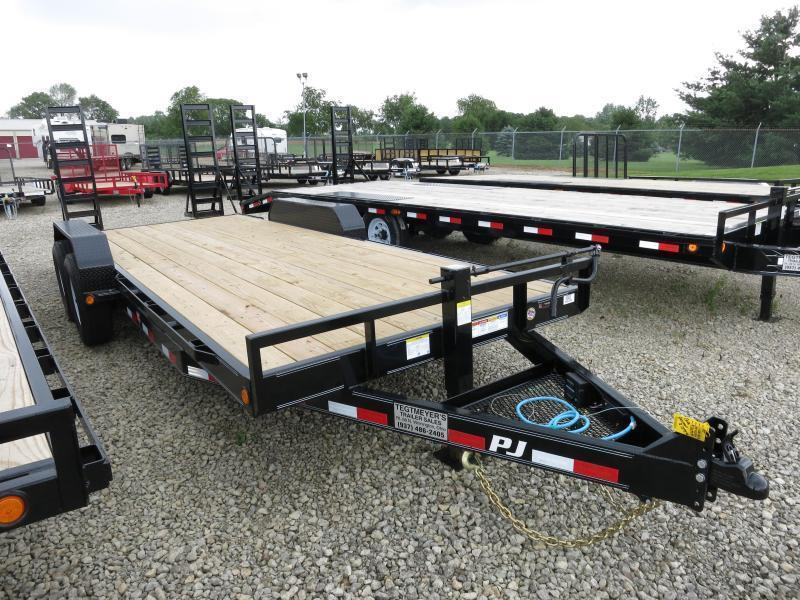 PJ Trailers 22' Equipment Trailer w/ Stand up Ramps