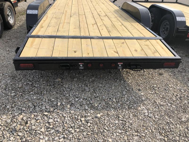 7x18  Car Hauler Tandem Axle with Ramps