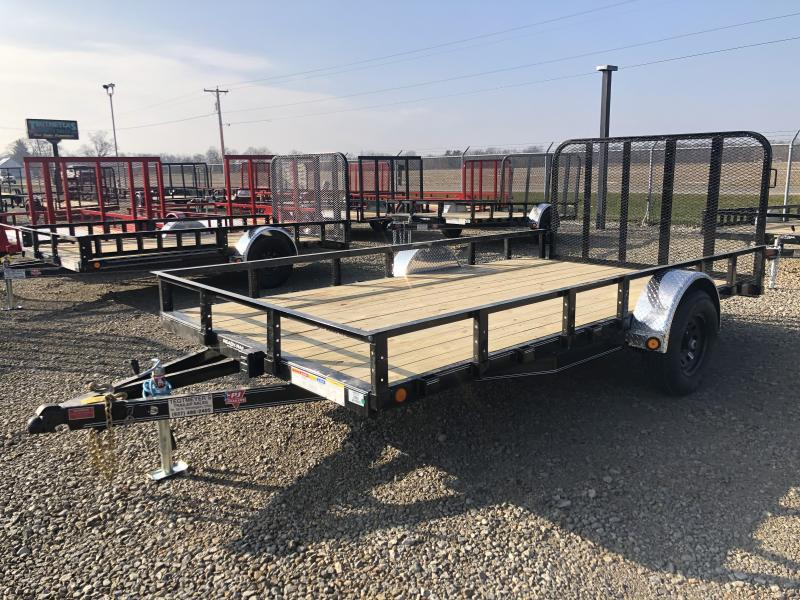 PJ Trailers 7x14 Utility Trailers w/ Gate - Single Axle 4995 GVW