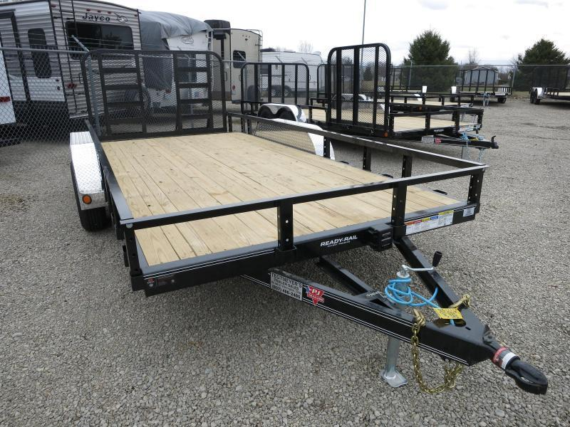 PJ Trailers 7' x 20' Utility Trailer w/ HD Gate - Dove