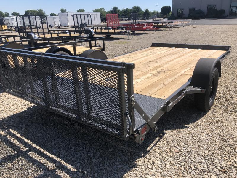 Used 7X14 Single Axle Flatbed trailer