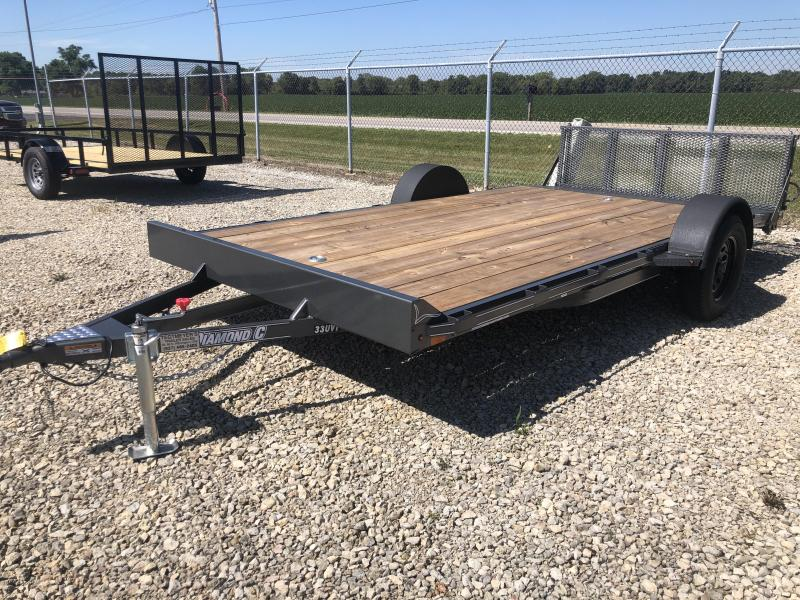 Used 7X14 Single Axle Flatbed trailer