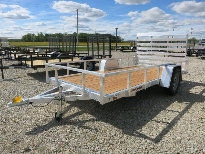 Sport Haven 6x12 Single Axle Aluminum Utility Trailer with Rear Gate