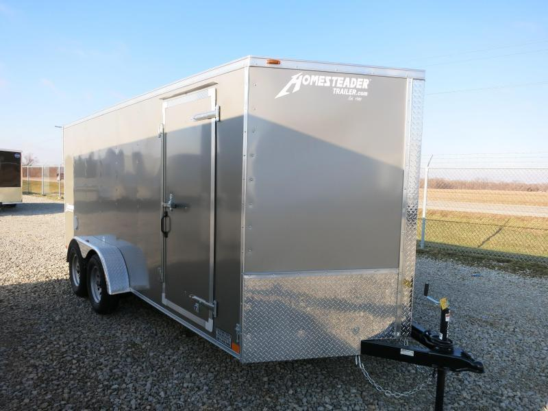 Homesteader 7x14 Enclosed Trailer with Ramp Door