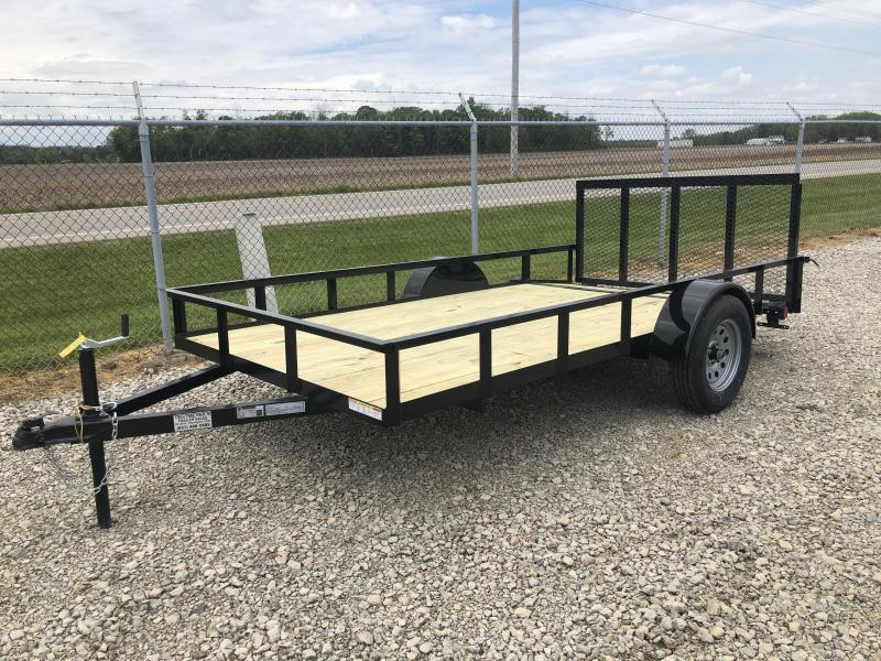 Lone Wolf Trailers 7x12 Utility Trailer w/ Rear Gate