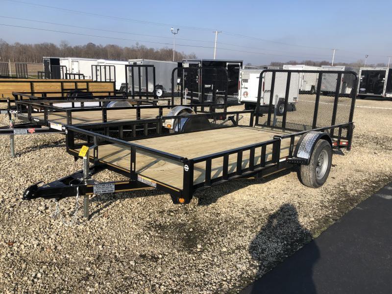 7x14 Utility Trailer w/ Rear Gate w/ Side loading ramps