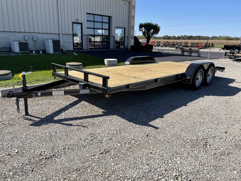 P&T Trailers 20' Wood Floor Car Hauler w/ ramps