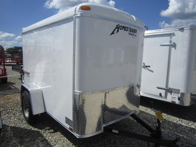 Homesteader 5x10 Single Axle Enclosed w/ Single Rear Door
