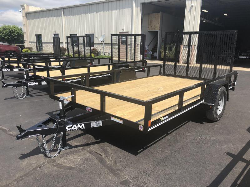 Cam Superline Trailers  7x12 Utility w/ gate