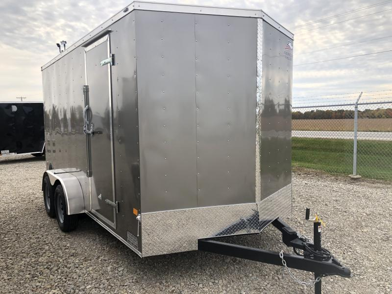 American Hauler 7X14 Enclosed Trailers W/ Ramp Door - LED - Dome Light