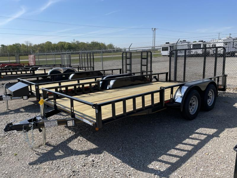 7x16 Tandem Axle Utility w/ Rear Gate