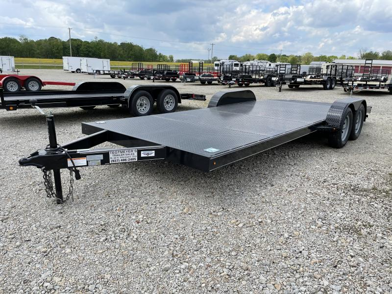 16' Wood Floor Car Trailers w/ Ramps