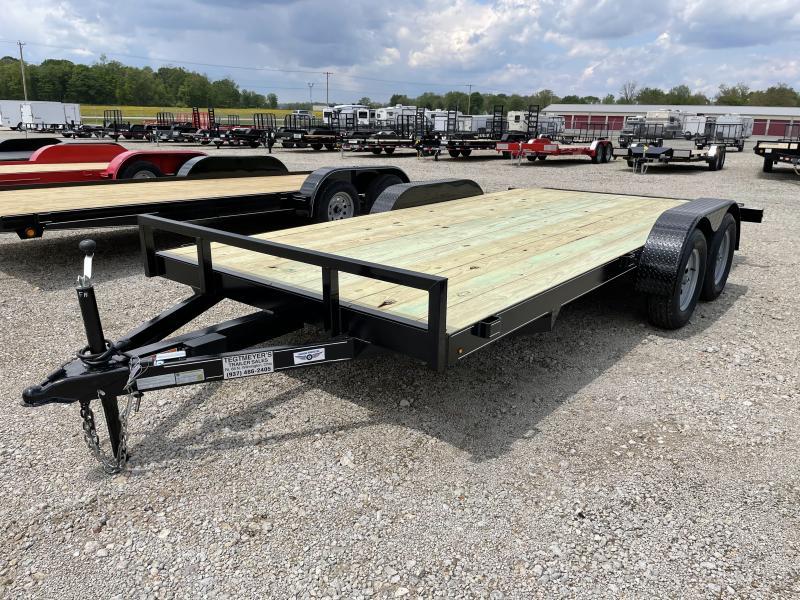 16' Wood Floor Car Trailers w/ Ramps